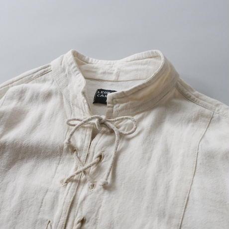 100% cotton lace up shirt/unisex