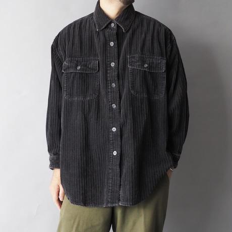 old corduroy black shirt/unisex