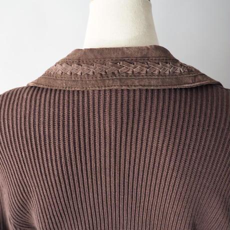 wool+leather design jacket/ladies'