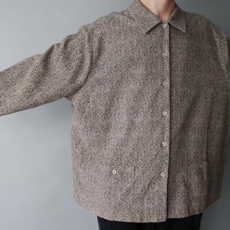 box silhouette shirt/unisex