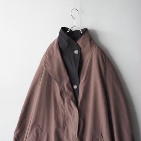 smooth fabric layered design coat/unisex