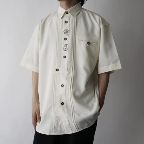 Tyrolean embroidery  summer shirt/unisex