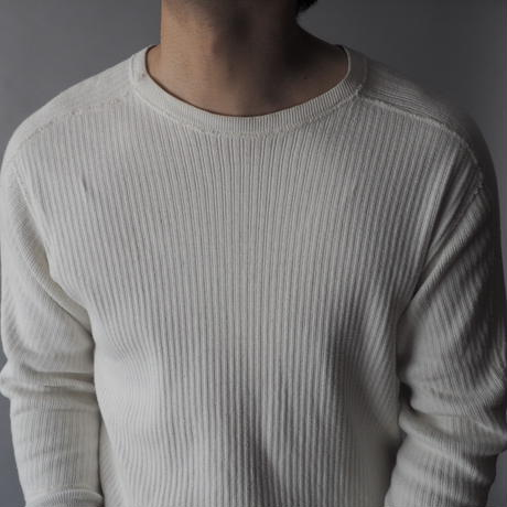 "men's ""dead stock"" Swedish rib thermal cut and sew/unisex"