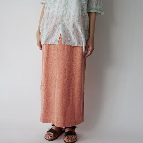 cotton sherbet orange long skirt
