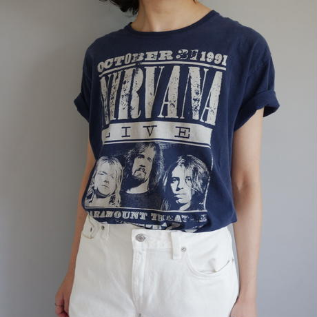 1991 Nirvana live at the Paramount tour officialT-shirt/unisex