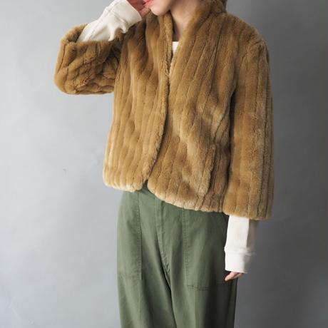 Calvin Klein Jeans fake fur short jacket/for ladies'