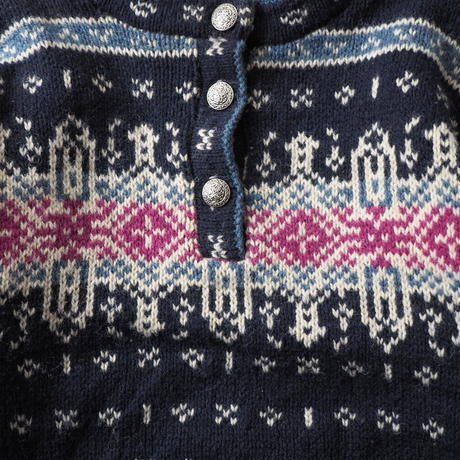 90s LL Bean Tyrolean nordic knit sweater/ladies'