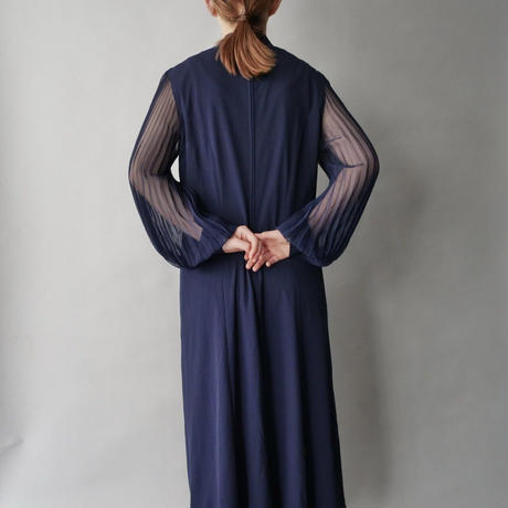 balloon sheer sleeve dress
