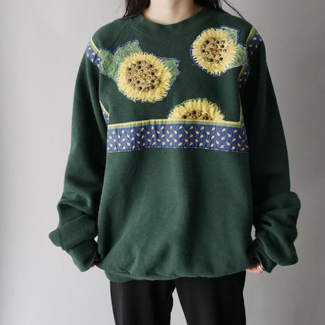 sunflower print design sweat