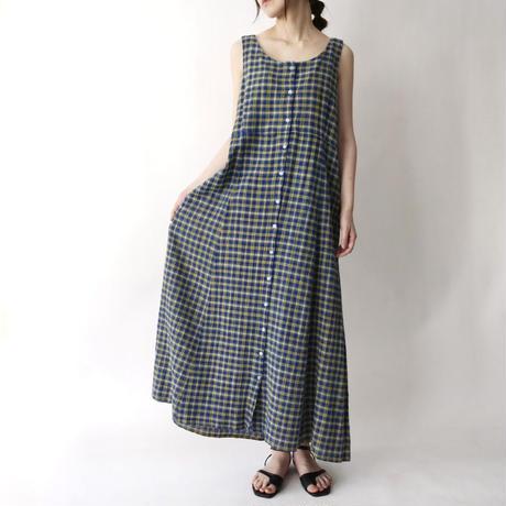 90's L.L. Bean check sleeveless dress