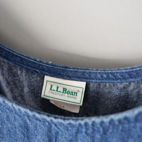 old  L.L. Bean denim jumper skirt