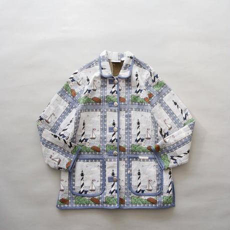 gobelins tapestry lighthouse pattern jacket/unisex
