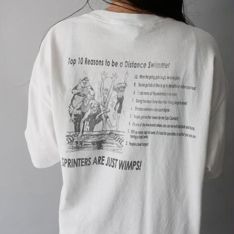 distance swimmer  front&back print  T-shirt/unisex