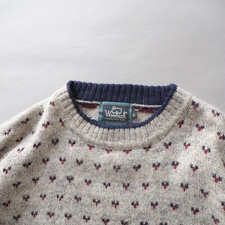 woolrich birds eye loose knit sweater/mens