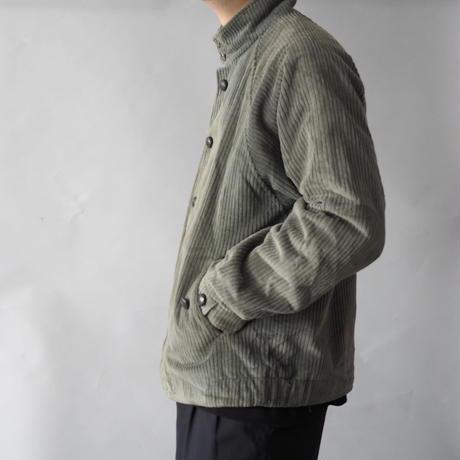 old Euro band collar corduroy jacket/unisex
