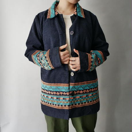 folklore embroidery shirt jacket/unisex