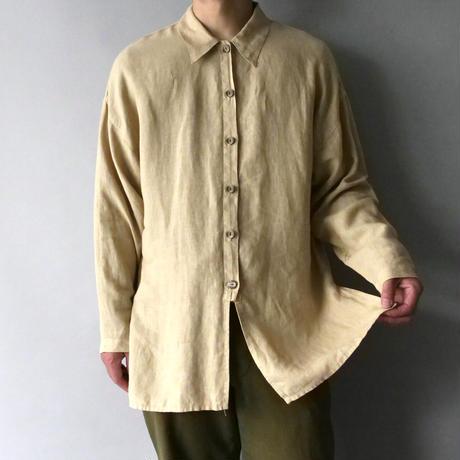 made in USA 100% linen design shirt