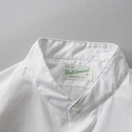 70s no collar white shirt
