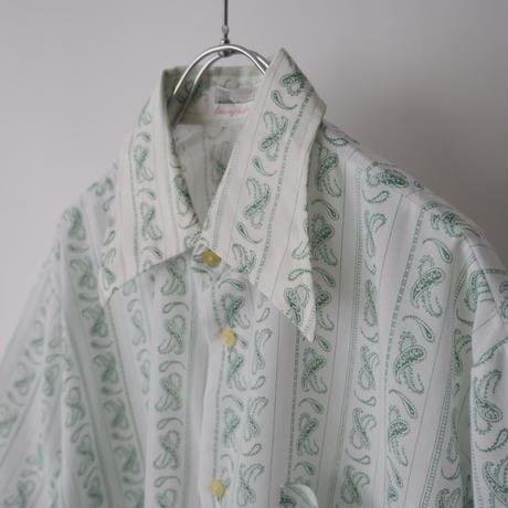 70s Euro vintage paisley shirt/unisex