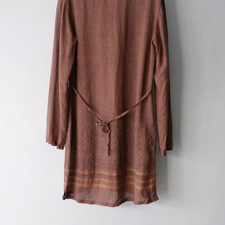 band collar sheer shirt/for ladies'
