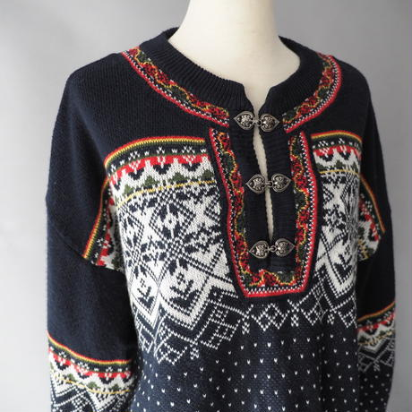 Tyrolean nordic pullover knit sweater/unisex