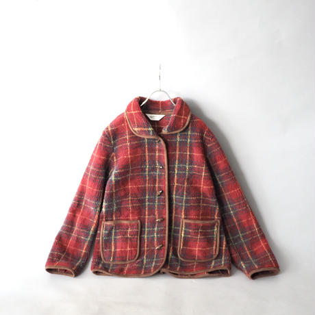 toggle button fleece jacket/for ladies'