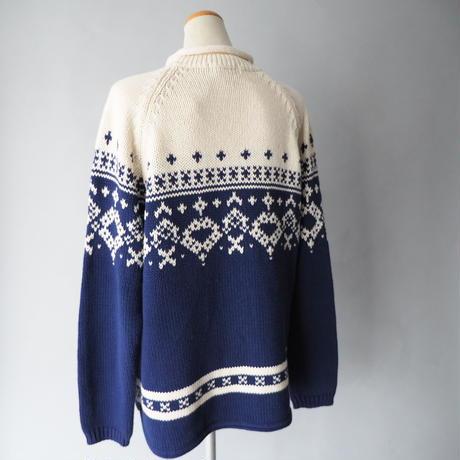old Eddie Bauer roll neck cotton  knit/unisex