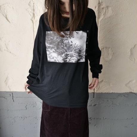 HIBIWA×Jedai Matsumoto photo print long sleeve T-shirt/black