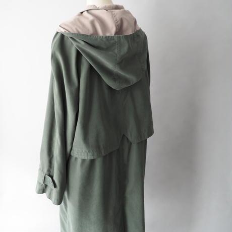 smooth fabric long coat