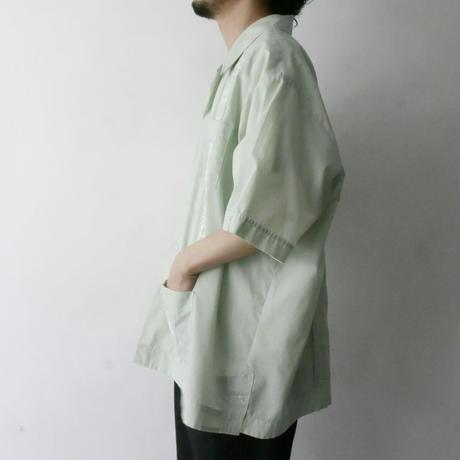 sherbet green Cuban shirt/unisex