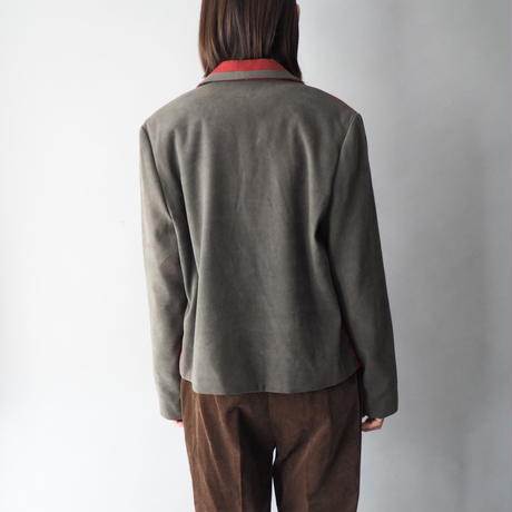 wool+mix material jacket