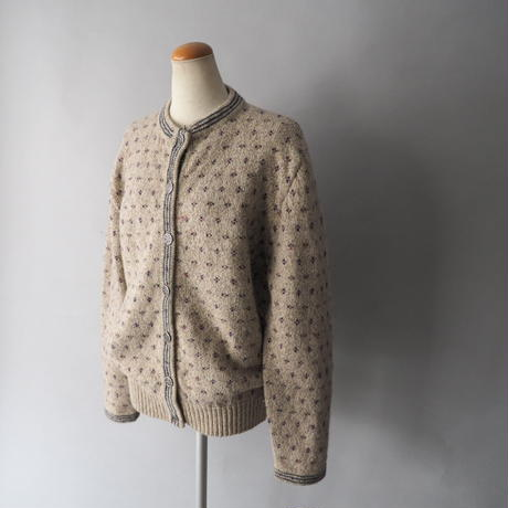 old Eddie Bauer Tyrolean  knit cardigan