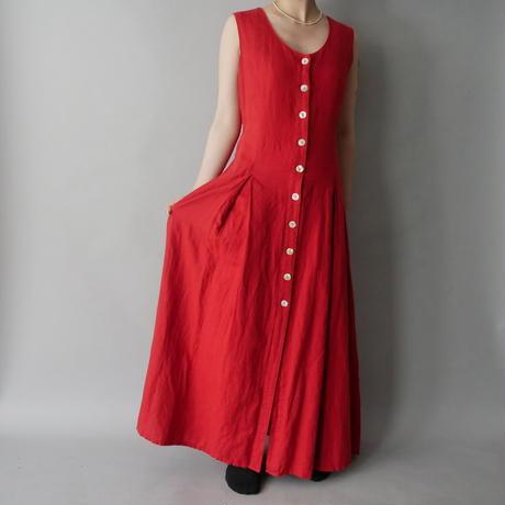 sleeveless  long dress