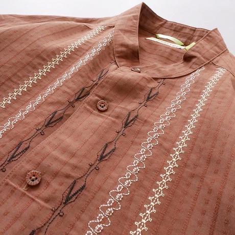 men's band collar Cuban shirt