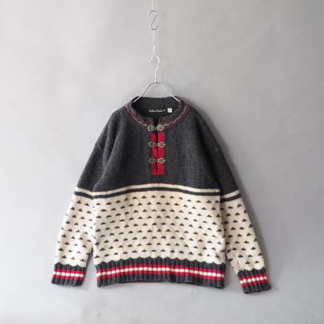birds eye&folklore pullover knit sweater/ladies'