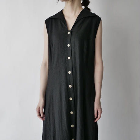 linen+rayon sleeveless  dress