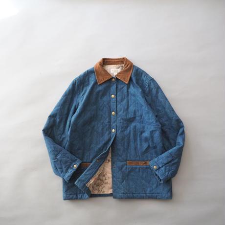 denim+corduroy+art design quilting jacket/unisex