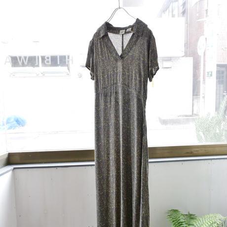 old GAP v-neck small flower &paisley pattern dress