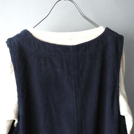 waffle fabric jumper skirt