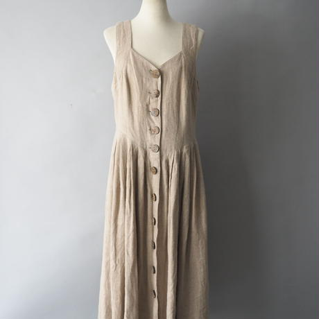 vintage heavy linen Tyrol sleeveless dress