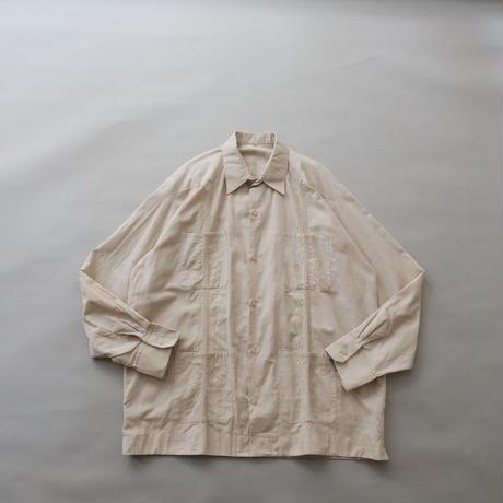 Cuban 4pocket long sleeve  shirt/unisex