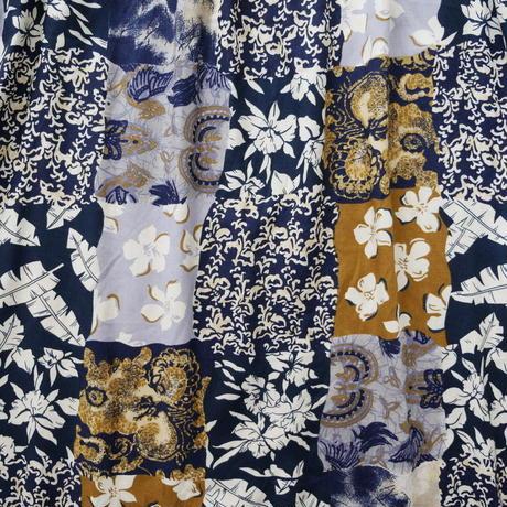 like a patchwork pattern sleeveless dress