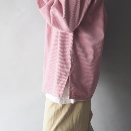 90s pink color corduroy shirt/unisex
