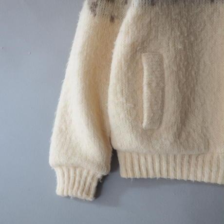 Iceland vintage Hilda Ltd for Eddie Bauer zip-up wool sweater/for ladies