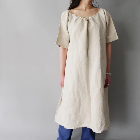 vintage French 50s-60s linen&cotton night dress
