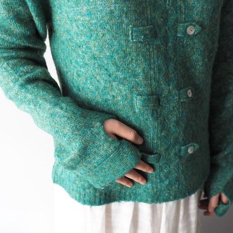 sherbet color design knit sweater