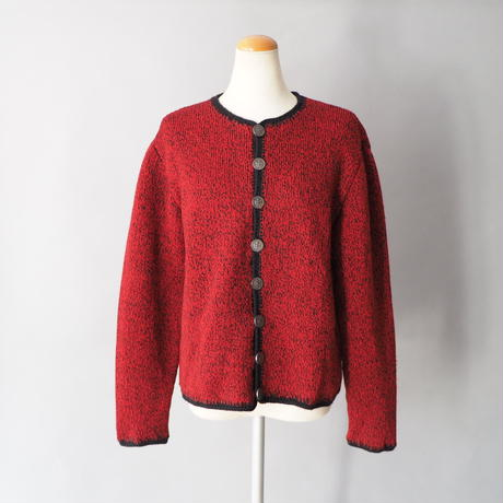 Tyrolean knit cardigan/for ladies'