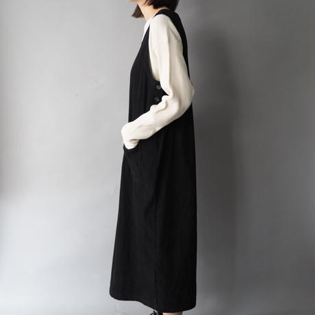 like a suede smooth fabric jumper skirt