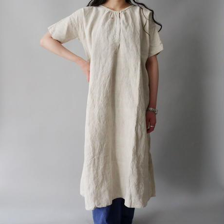 vintage French 50s-60s linen night dress