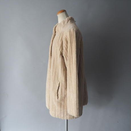 no color double face heavy cotton jacket/ladies'